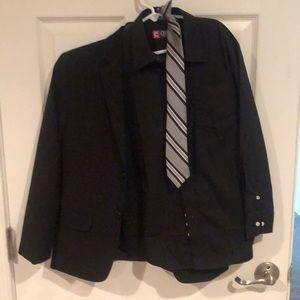 Boys suit coat shirt & tie